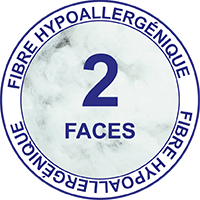 2 faces fibre hypallergénique