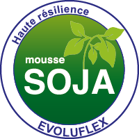 Mousse haute résilience 100% Evoluflex Soja