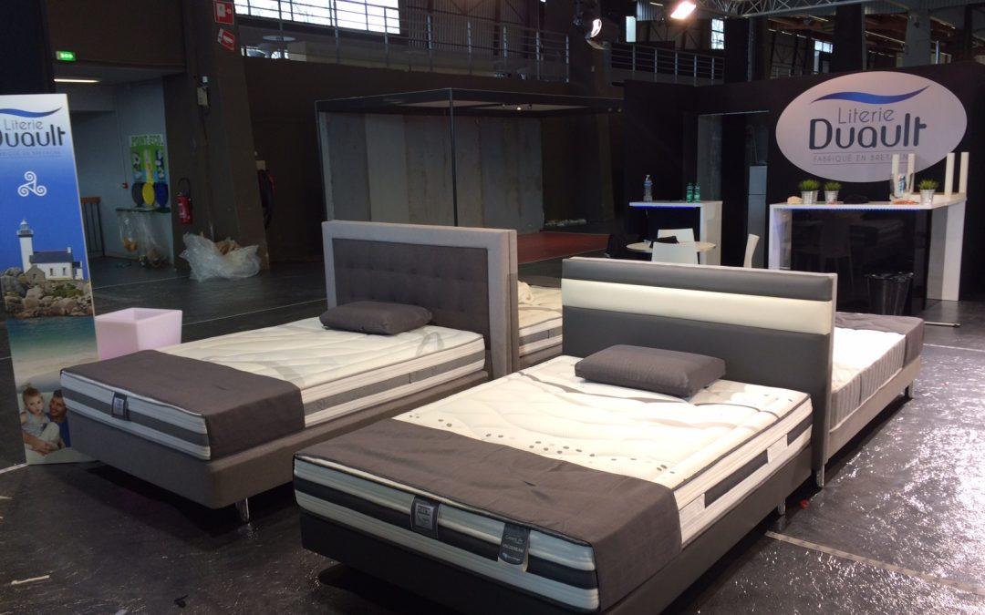 j 2 avant l 39 ouverture du salon de nantes 2017 literie duault. Black Bedroom Furniture Sets. Home Design Ideas