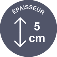 epaisseur 5cm