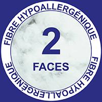 2 faces fibre hypoallergénique