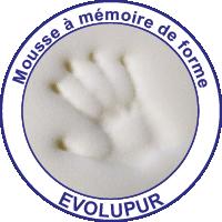 Mousse à mémoire de forme EVOLUPUR